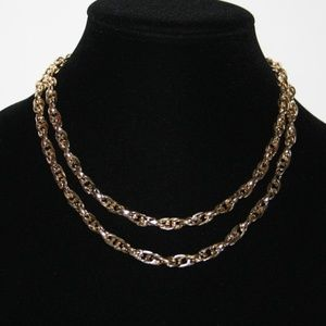 Gold Sarah Cov Necklace LONG 36""